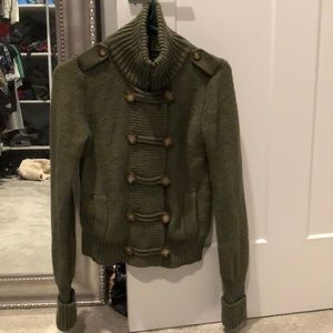 American eagle military style sweater